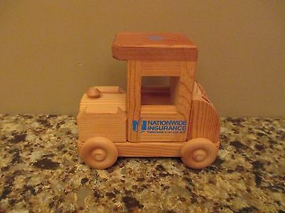 Nationwide Insurance Promotional Wood Toy Car w/ Rolling Wheels - On Your Side