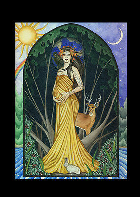 JOURNAL  Mother Earth Goddess Black Velvet Blank Pages Jessica Galbreth