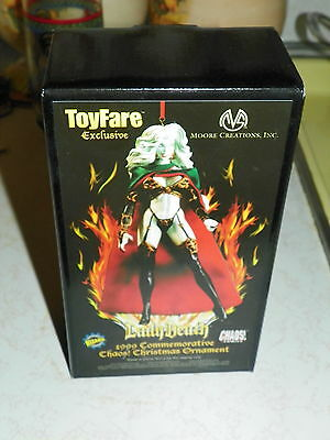 Lady Death 1999 Commemorative Chaos Christmas Ornament--Nice-Case Fresh Perfect