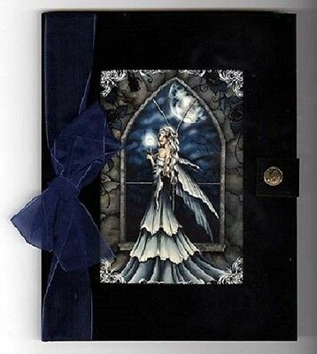 JOURNAL  Nightfall Fairy Black Velvet Blank Pages Jessica Galbreth
