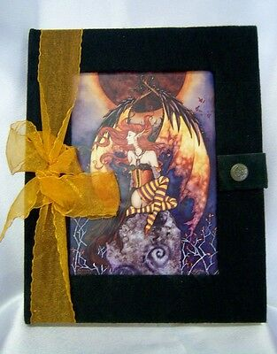 JOURNAL Another Eclipse Fairy Black Velvet Blank Pages Amy Brown
