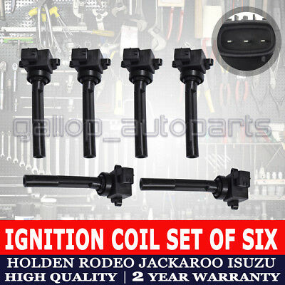 Ignition Coil  Isuzu Trooper Rodeo Holden TF RA Jackaroo Frontera 3.2L 3.5L 6PCS