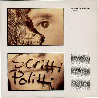 """SCRITTI POLITTI First Boy In This Town  7"""" Ps"""
