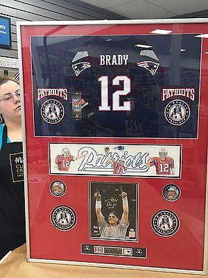 Tom Brady  Custom Framed And Matted  Man Cave  Picture  31.5 X 39.5  Coa