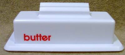 Plastic Covered Butter Dish White New