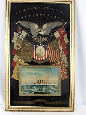 Pre-WWI USS Maryland Remembrance 1912 Emperor Japan Funeral Military Embroidered