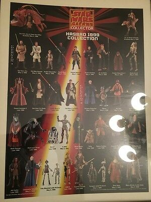 Star Wars Action figure Poster Episiode 1 from Toy Galaxy Magazine