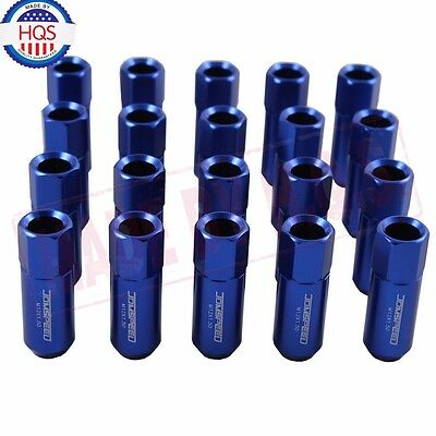 BLUE M12X1.5 60MM ALUMINUM TUNER RACING LUG NUT For HONDA CIVIC ACURA INTEGRA