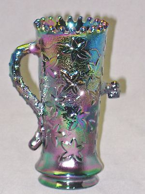 Fenton Glass 1979 I.C.G.A. Convention Amethyst Carnival Glass Mini Town Pump