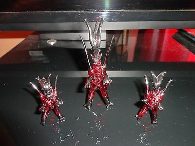 3 Set Of Dragons Figurine of Blown Glass Crystal