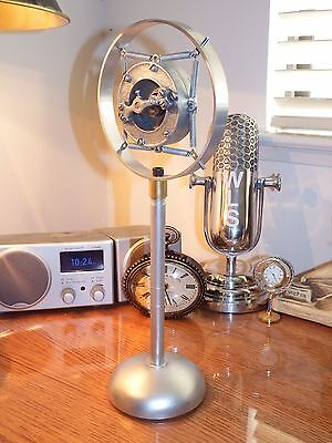 Vintage 1920's-'30's ring spring carbon microphone with stand