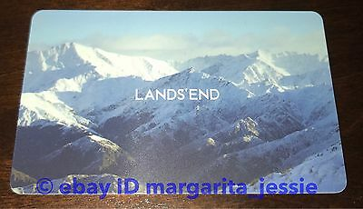"Land's End/sears Gift Card ""snowy Mountains"" No Value Collectible New"