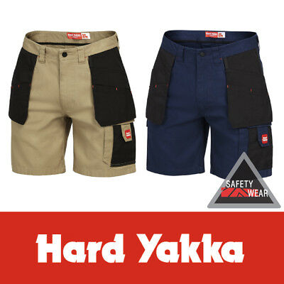 Hard Yakka Xtreme Extreme Legends Work Shorts Y05083 Navy Khaki Charcoal
