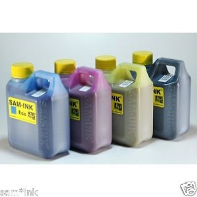 SAM*INK  four  bottles of One Liter Eco-Sol MAX CMYK ink for all Roland printers