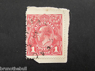 KGV 1d Red On Piece. Dot Before 1 Variety #8