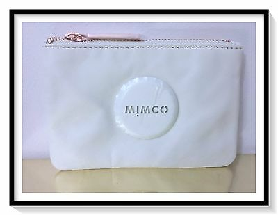 Mimco SMALL MIM Pouch Coin Purse Brand New Dust Bag RRP $69 ALABASTER Metal
