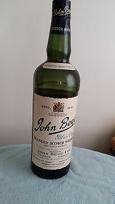 John Begg Scoth Whisky Plastic Coin Bank Bottle 2 feet tall Store Display