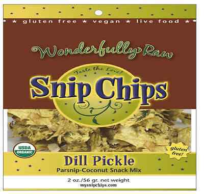 New Wonderfully Raw Gourmet Delights Organic Snip Chips Gluten Free Snack Food