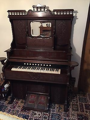 Antique Bellows Organ/Piano Mad By Bell Organ and Piano Co, Canada.