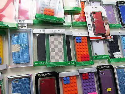I Phone 5 Cases, Bulk Lot With Adhesive Screen Kits, Lego/Fashion Styles QTY 39