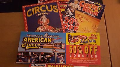 15 Circus Flyers, all different