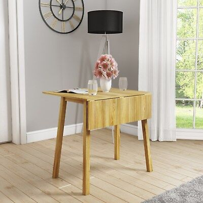 New Haven 2 Seater Drop Leaf Table in Light Oak Finish NHA010