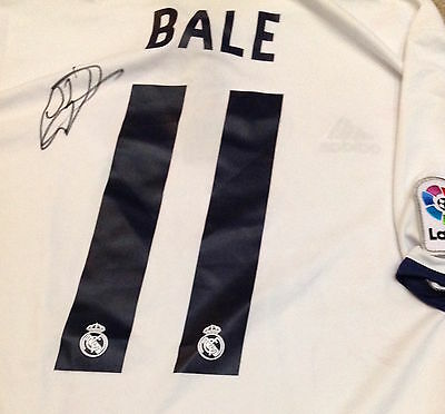 Gareth Bale signed Real Madrid New 2016-17 home Shirt XL Men's Sale