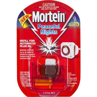 MORTEIN PEACEFUL NIGHTS REFILL ONLY Mosquito & fly Repellent auto Free Post