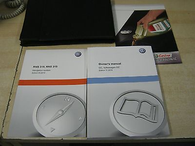 Vw  Passat Cc  Handbook Pack Owners Manual Wallet 2012-2016 And Rns 310 315 Book