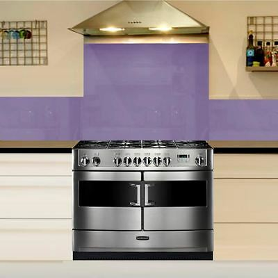 Lilac tempered Glass Splashback Kitchen Cooker Hob Wall Safety Guard 100 x 50cm