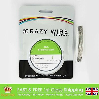 26 AWG x 2 (0.4mm x 2) Twisted SS316L Marine Grade Wire 10M By Crazy Wire Co