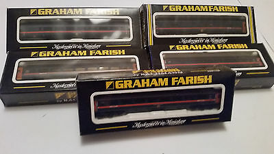 5x GRAHAM FARISH N-GAUGE GNER COACHES