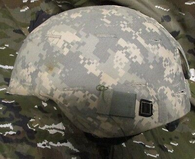 Genuine Us Army Msa Olive Green Ach Advanced Combat Helmet With Acu Cover. Large
