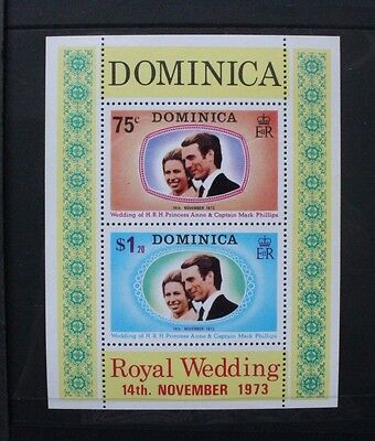 DOMINICA 1973 Royal Wedding. Souvenir Sheet. Mint Never Hinged. SGMS396.