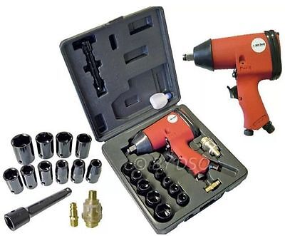"""LOOK"" 1/2"" Air Impact Wrench And Socket Set! Garage Wheels Nuts Bolts UK STOCK."