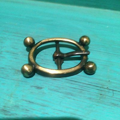 """LAST ONE: Atomic Age Style Antique Gold Buckle For 3/4"""" Or 18mm Strap"""
