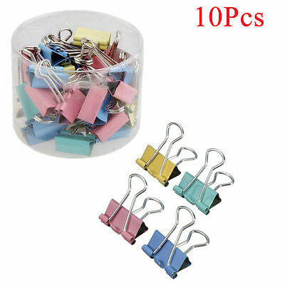 Portable 19mm Office Stationery Binder Clips Paper Holder Document Clips