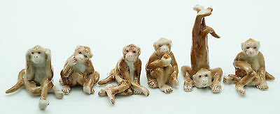 Figurine Animal Ceramic Statue 6 Brown Monkey - CWM007