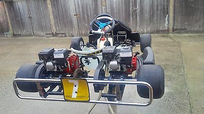 Honda gx160 twin senior engine go kart wright kart