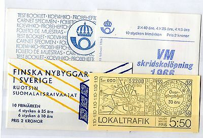 Sweden Booklet Collection x 4 Complete Mint X5202
