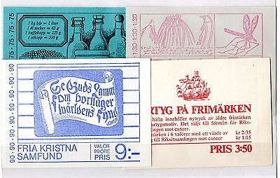 Sweden Booklet Collection x 4 Complete Mint X5203