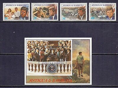 Antigua. 4 NH mint stamps and MS. John Kennedy Commemoration SG 1245/MS1253