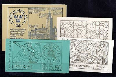 Sweden Booklet Collection x 4 Complete Mint X5205