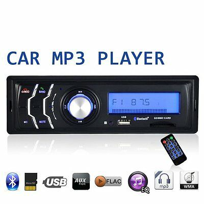 Bluetooth Car Audio Stereo FM Radio USB SD Mp3 Player AUX with Remote Control