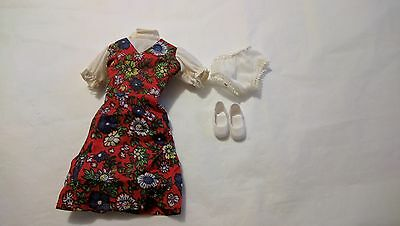 vintage sindy doll gayle outfit dress shoes & knickers