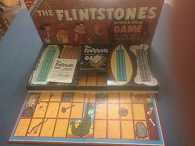 1961 The Flintstones Stoneage Game, The Game That Rocked Bedrock, Complete.