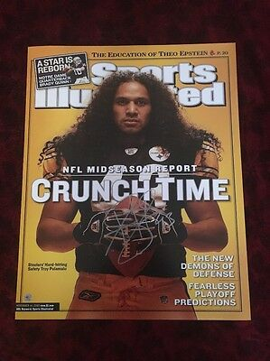 TROY POLAMALU signed PITTSBURGH STEELERS 16x20 Sports Illustrated Cover! TSE