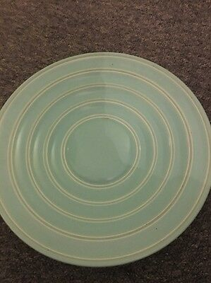 Poole Green Plate Dish Charger Ribbed Similar To Keith Murray
