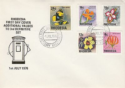 1976 Rhodesia Additional Values Defins First Day Cover Salisbury PMK Ref: MT265