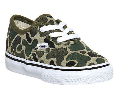 Kids Vans Authentic Toddlers Camo Suede Trainers Size UK 6 Infant * Ex Display